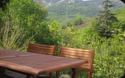 vue depuis la terrasse bois modenne
